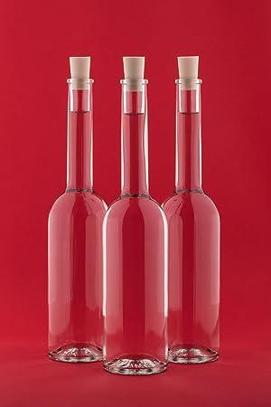 slkfactory 12Botellas vacías 200ml OPI con Corcho Cierre 0,2L de Licor Botellas Licor Botellas vinagre Botellas Aceite Altura 23cm, de SLK GmbH