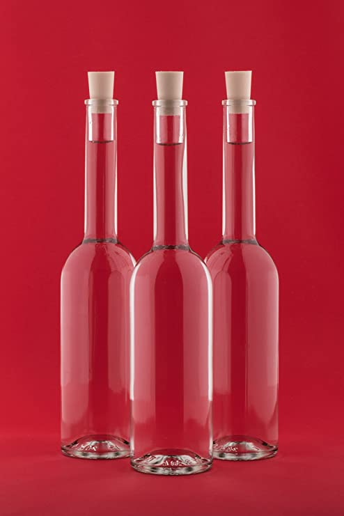 10 Piezas 100ml, Botellas Opera, Vacío Botellas de Cristal con Corchos, para Usted