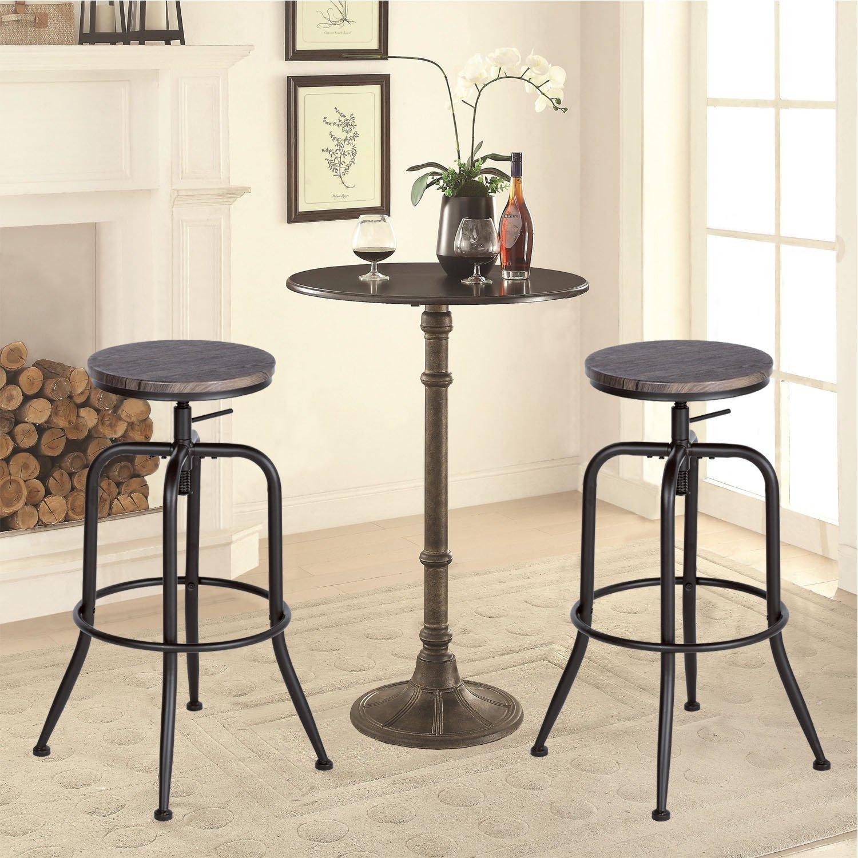 Aingoo 2er Set Barstühle Barhocker mit Fußablage Metallgestell ...