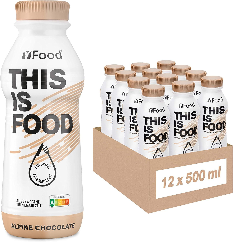 YFood Chocolate | Batido Sustitutivo | Sustitutivo de comida sin lactosa ni gluten | 33g de proteínas, 26 vitaminas y minerales | 25% de las calorías ...