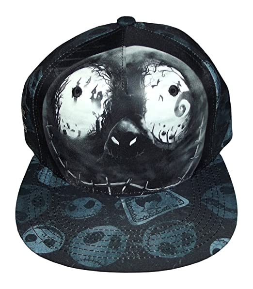 7f6e79f09a4 Disney s The Nightmare Before Christmas Jack Skellington Eyes Snapback Cap   Amazon.in  Clothing   Accessories