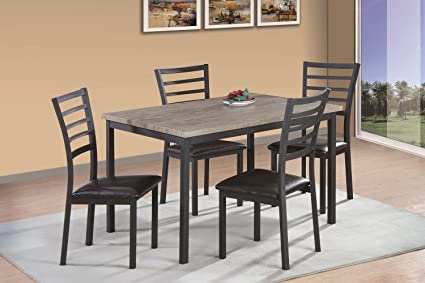 Amazon.com - Benzara BM170576 Rectangular Dining Table ...