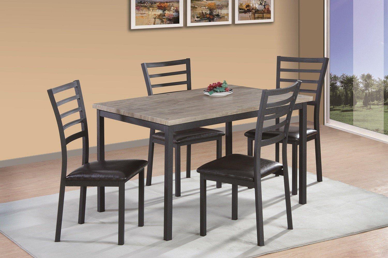 Milton Greens Stars 2-Tone Terrassa 48'' x 36'' Rectangular Dining Table