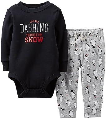 9a4b75b18fa0 Amazon.com  Carter s 2 Piece Christmas Set (Baby) - Black-3 Months ...