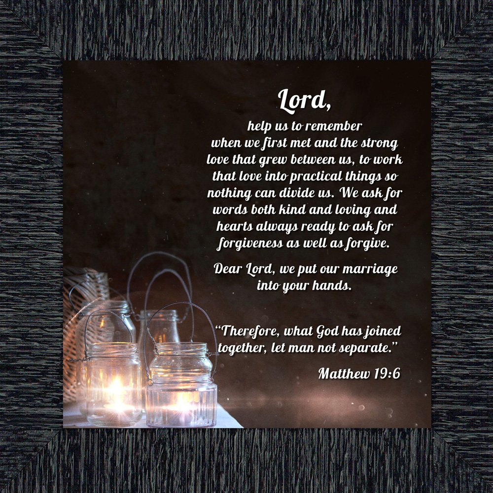 Marriage Prayer with Scripture, A Matthew Bible Verse, True Love Picture Frame, 10x10 8613CH