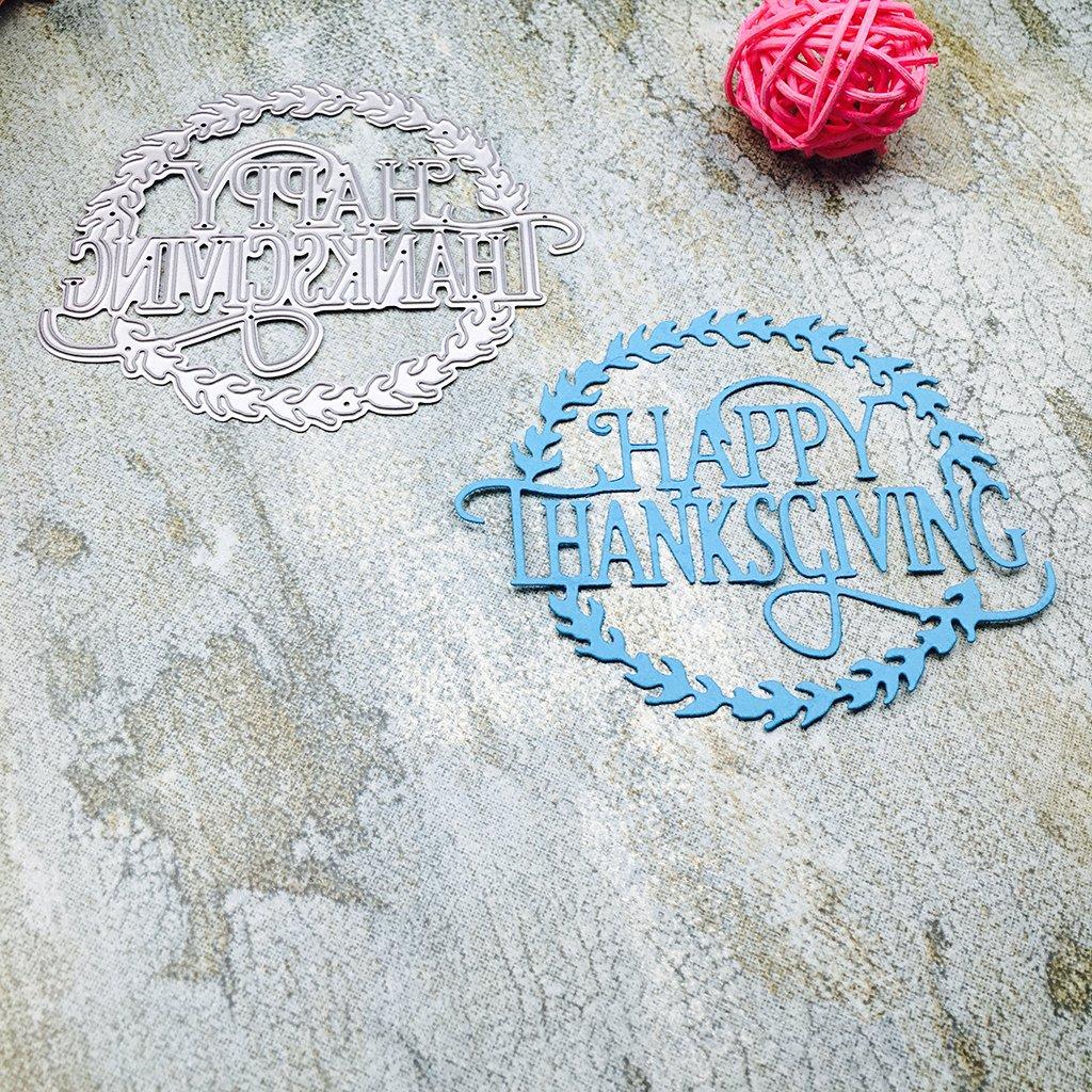 Susada Happy Thanksgiving Metal Steel Cutting Dies Stencils Embossing DIY Scrapbooking by Susada (Image #2)