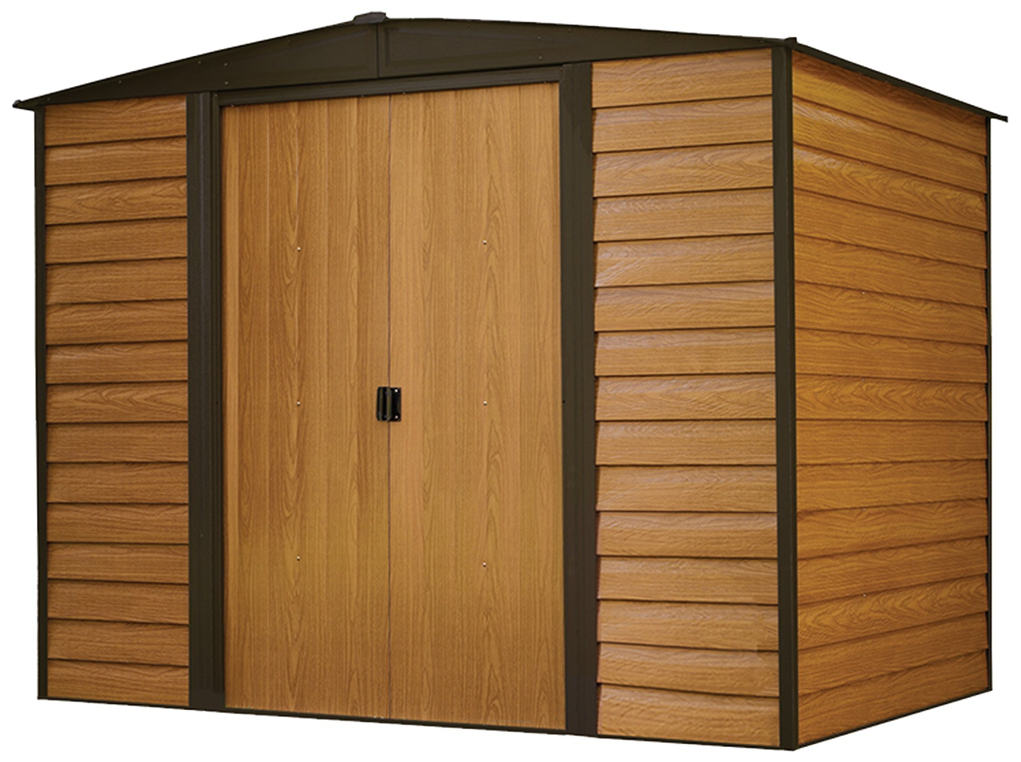 Arrow WR86 Woodridge EG Steel Storage Shed, 8 by 6-Feet