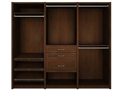 ClosetMaid 6109440 Spacecreations Wood Closet Organizer Kit, 96 Inch,  Premier Dark Java