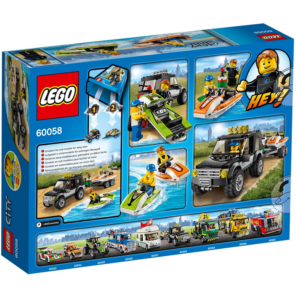 SUV with Watercraft LEGO City Great Vehicles 60058