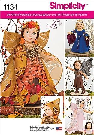 Simplicity Nähmuster 1134 für mystische Puppenbekleidung für 45,7 cm ...
