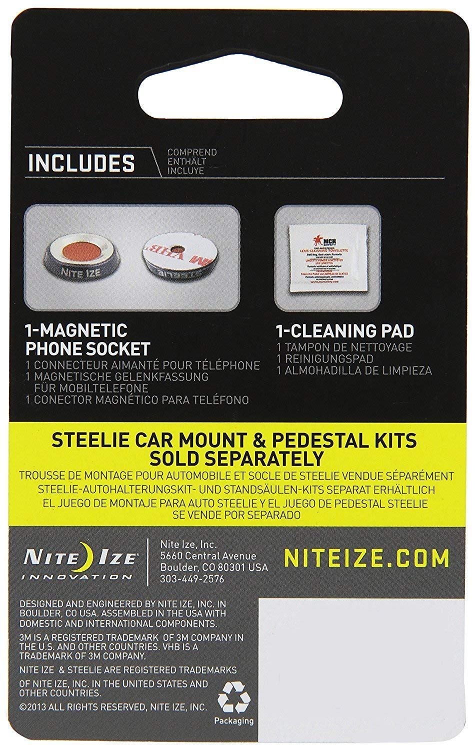 Amazon.com: Nite Ize Original Steelie Magnetic Phone Socket - Additional Magnet for Steelie Phone Mounting Systems (Limited Edition): Home Improvement