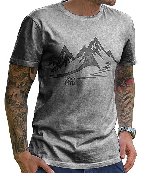 the best attitude d65b9 323bb Stylotex Herren T-Shirt Basic MTB | hochwertiges Männer Shirt zum  Mountainbiken, Weihnachten, Geburtstag | in Deutschland Bedruckt