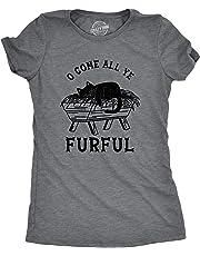 Womens O Come All Ye Furful Tshirt Funny Cat Christmas Carol Tee