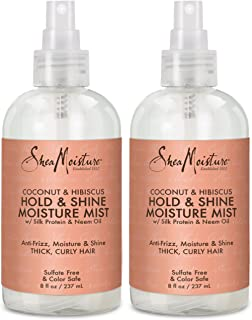 product image for Shea Moisture Coconut Hibiscus Hold & Shine Daily Moisture Mist w/Silk protein & Neem Oil 8 oz, Thick, Curly Hair, Sulfate Free & Color Safe, Pack of 2