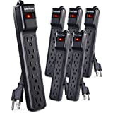 CyberPower CSB604MP6 Essential Surge Protector, 900J/125V, 6 Outlets, 4ft Power Cord, 6 Pack