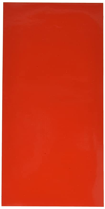 24  Sheets 6 inch x 12 inch Glossy Tomato Red Permanent Craft Sign Vinyl V0049