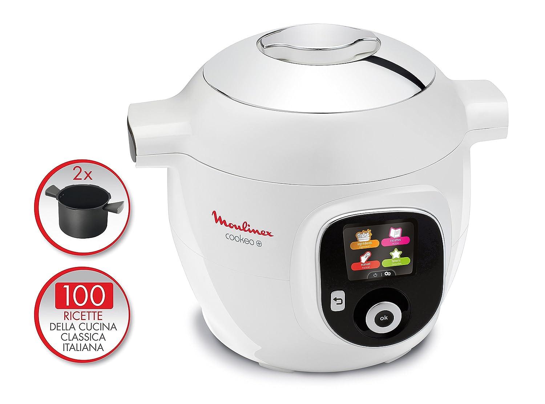 Moulinex Cookeo Multicuiseur avec second r/écipient et 100/recettes en italien