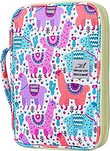 YOUSHARES 96 Slots Colored Pencil Case, Large Capacity Pencil Holder Pen Organizer Bag with Zipper for Prismacolor Watercolor Coloring Pencils, Gel Pens for Student & Artist (Color Alpaca)