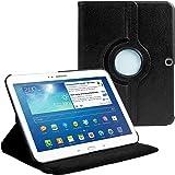 AM P5200LEATHERBLACK Housse avec film de protection d'écran/stylet pour Samsung Galaxy Tab 3 Motif Noir