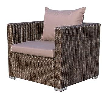 Lounge sessel braun  Famous Home Rattan Loungesessel 80cm Pepe Braun Sofa Relaxsessel ...