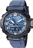 Casio Men's PRO Trek Stainless Steel Quartz Watch with Resin Strap, Black, 23.5 (Model: PRW-6600Y-2CR)