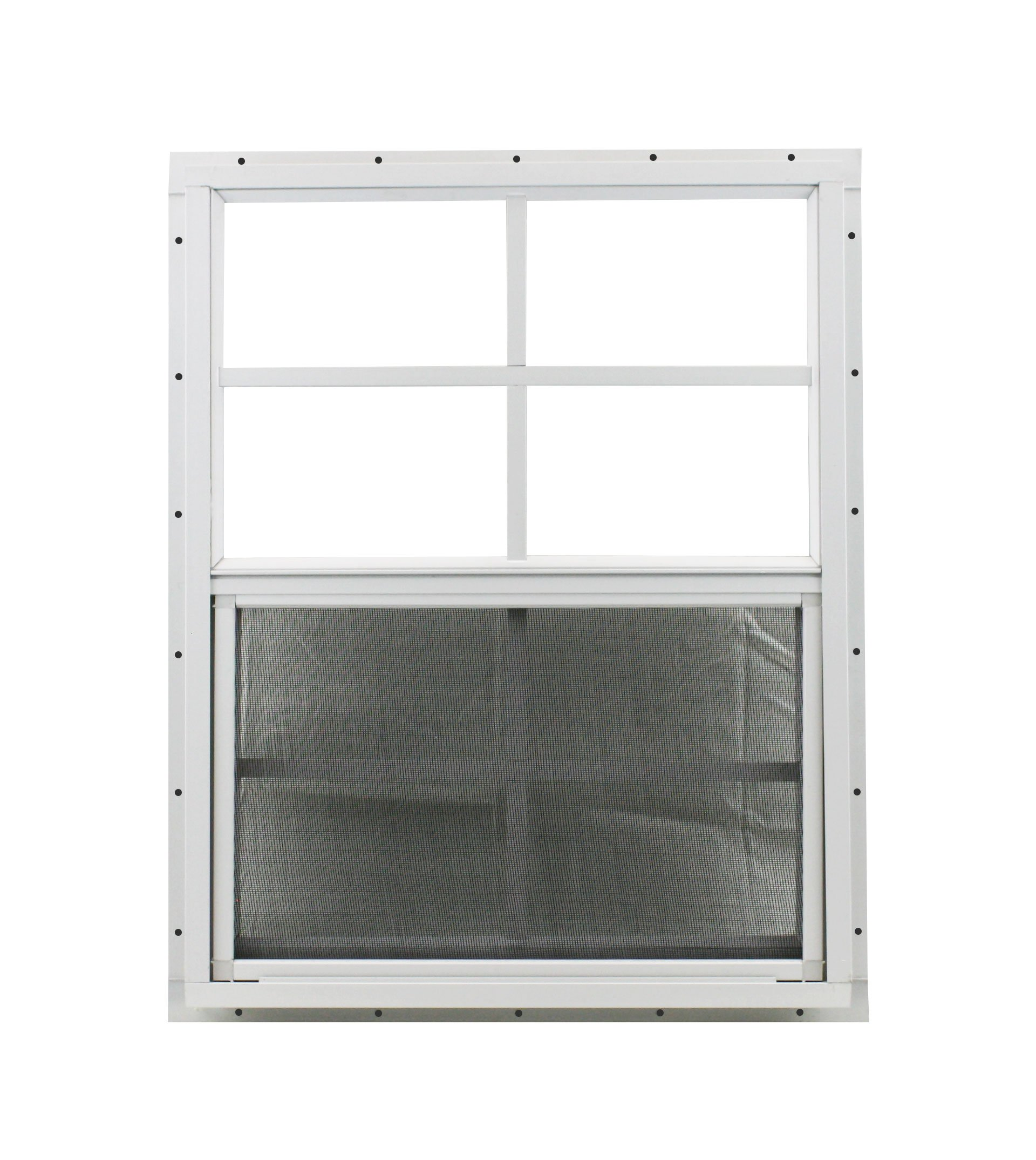 Shed Window 18'' X 27'' White J-channel Mount SAFETY/TEMPERED GLASS, Playhouses, Treehouses