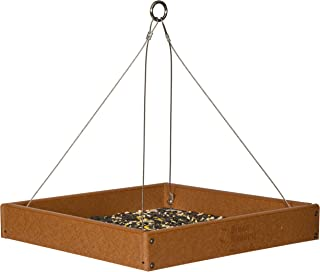 product image for Fly-by Hanging Poly Tray Bird Feeder (Cedar)