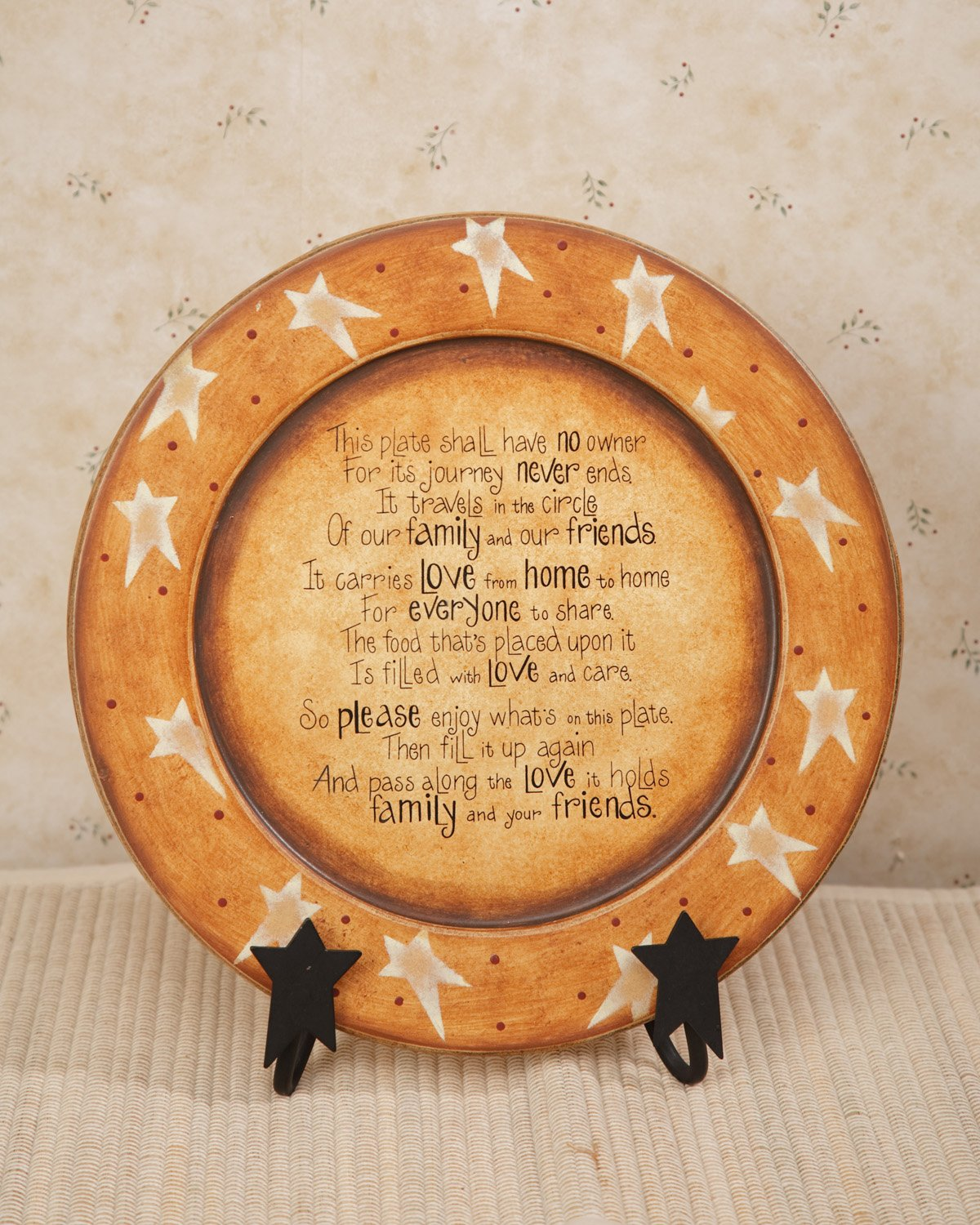 11-3//8-Inch Your Hearts Delight Pass Along Poem Wooden Plate