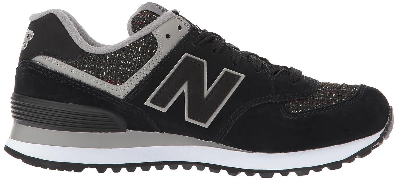New Balance Women's 574v1 D Sneaker B01N7LX7SH 12 D 574v1 US|Black/Overcast 3170cb