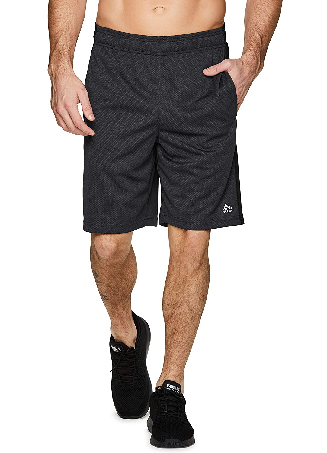 RBX Active Mens 9 Inseam Workout Running Gym Athletic Shorts with Pockets