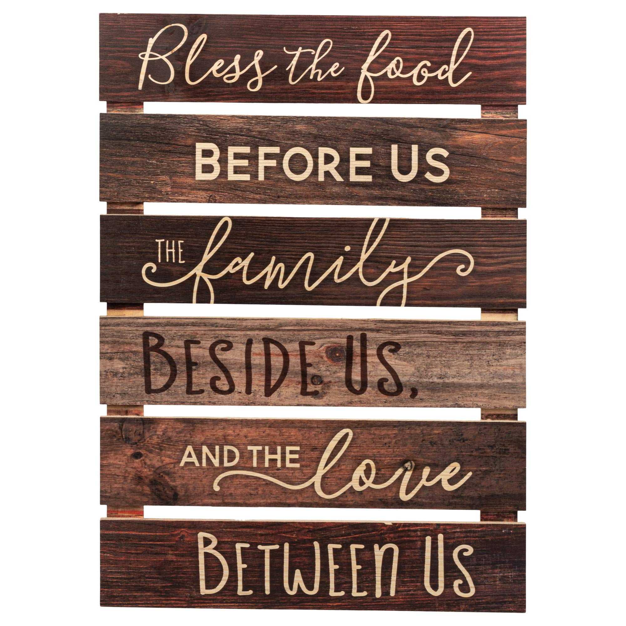 P. Graham Dunn Bless The Food Before Us Brown Distressed 17 x 24 Inch Solid Pine Wood Skid Wall Plaque Sign by P. Graham Dunn