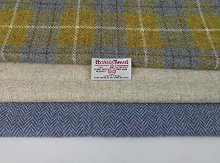 Harris Tweed Fabric /& labels 100/% wool Craft Material various Sizes co.f17