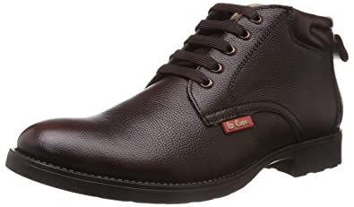 Lee Cooper Men's Brown Leather Boots (LC9519) - 7UK/India (41EU)