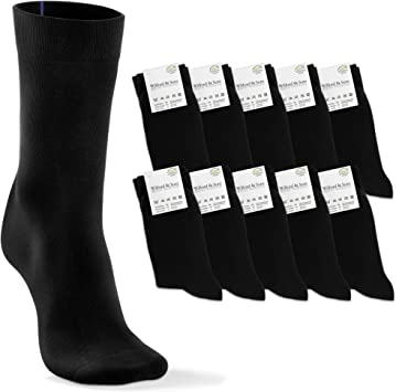 Calcetines Negros Clásicos 10 Pares, Hombres Mujeres Niños ...