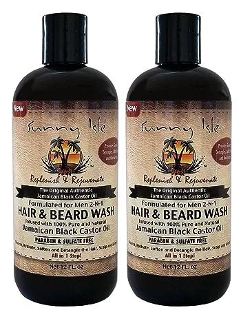 Amazon com : Sunny Isle Jamaican Black Castor Oil 2-N-1 Hair & Beard