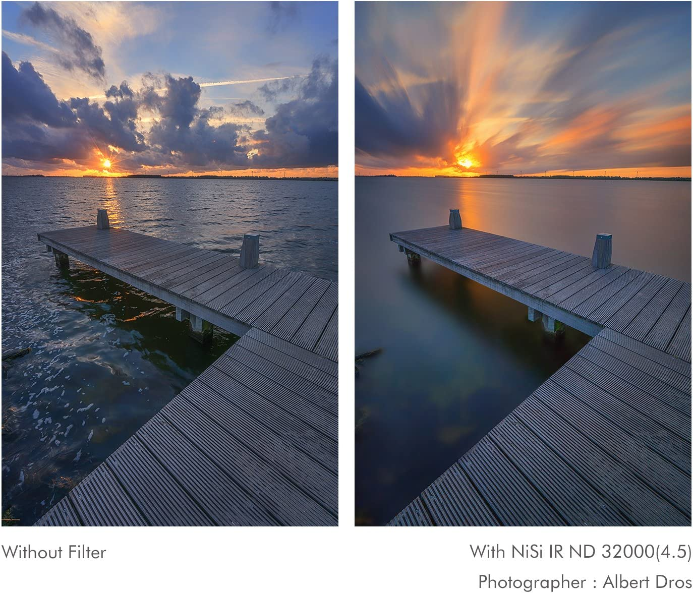 77mm 4.5 NiSi IR ND32000 Filters - Neutral Density Filter 15 Stops
