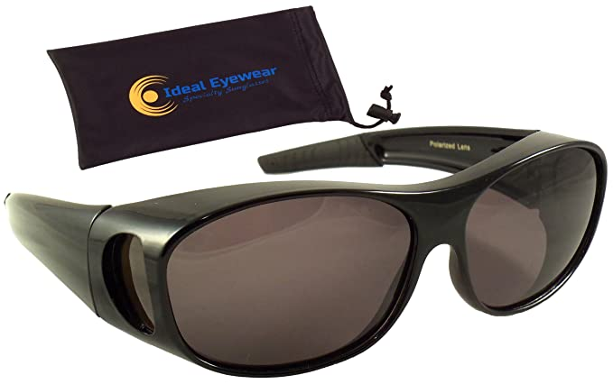 9702c81453 Sun Shield Fit Over Sunglasses with Polarized Lenses and Spring Hinges -  Fit Over Prescription Glasses