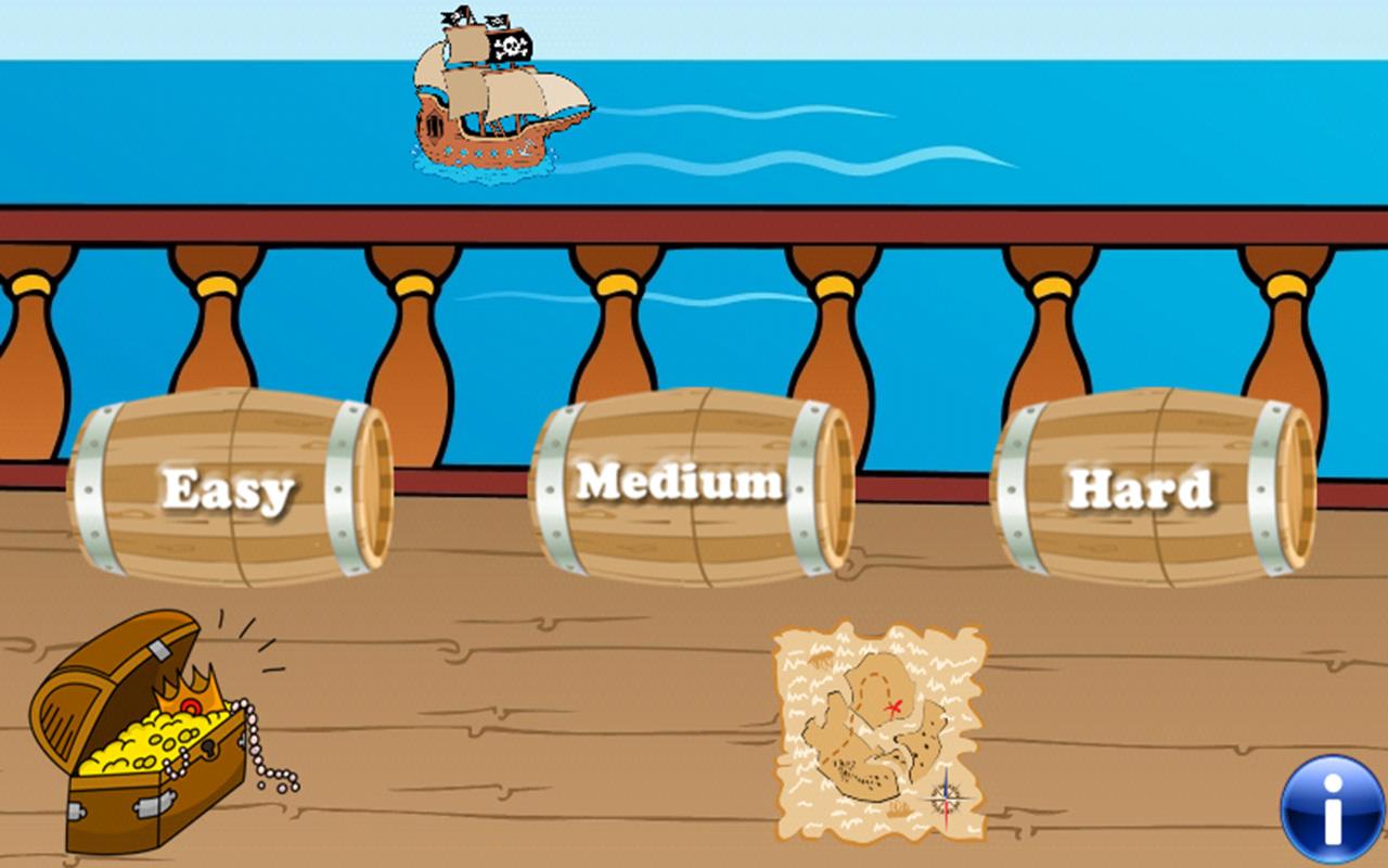 Piratas juegos para niños y los pequeños : descubrir el mundo ...