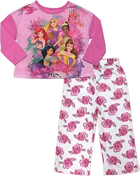 Disney Girls 2-Piece Character Pajama Sleep Set Pink 4T Toddler