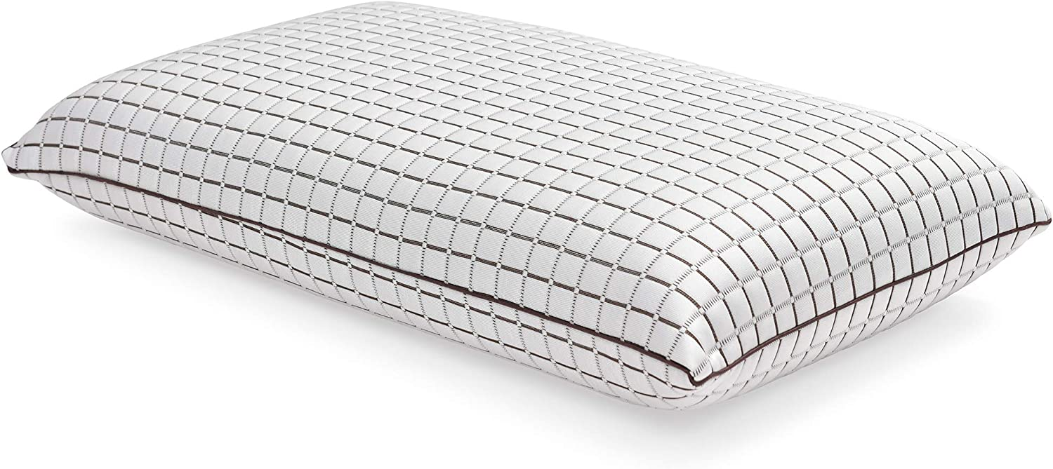 Classic Brands 810352-6050 Coconut Infused Ventilated Memory Foam Pillow, Queen, White