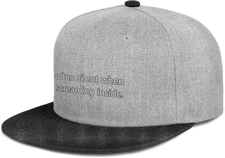 Unisex Im Often Silent When Im Scraem Inside Fitscowboy Hat Superlite Baseball Cap Snapback Hat