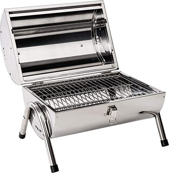 Tectake Bbq Grill Portable Rust Free Stainless Steel 2 Grill Areas