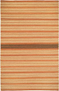product image for Capel Barred Stripe Sunny Deep Grey 5' x 8' Rectangle Flat Woven Rug