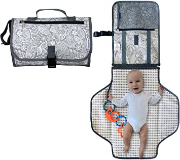 Nappy Changing Bag Clutch style Baby Diaper Bags Compact Change Kit /& Organiser