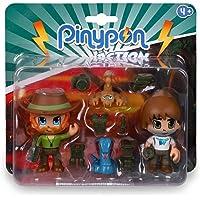 Pinypon Action Wild. 2 Figuras con 2 animales para niños y niñas de 4 a 8 años (Famosa 700016607)