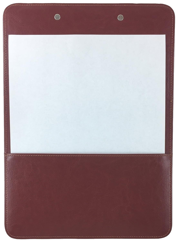 Comercio Quest portapapeles sintética piel único (Chestnut marrón): Amazon.es: Oficina y papelería