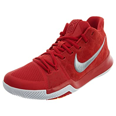 655c046e21d NIKE Kyrie 3 Basketball Shoes Kyrie Irving Mens University Red Grey White  New 852395