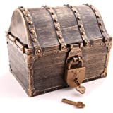 Lingway Toys Kids Pirate Treasure Chest Large Size Teacher's Favorite Treasures Collection Storage Box with 2 Sets of…