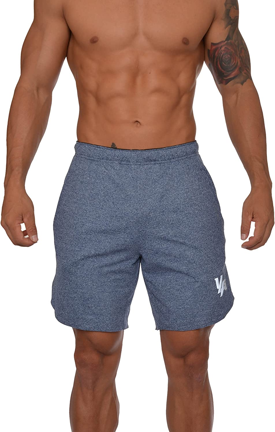 YoungLA Mens Running Shorts Athletic Gym Workout Powerlifting 104