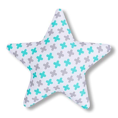 AMI Lian® Cojín Estrella Plus Turquesa - Cojín (tejido de ...